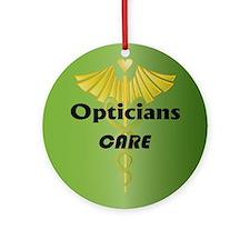 Opticians Care Ornament (Round)