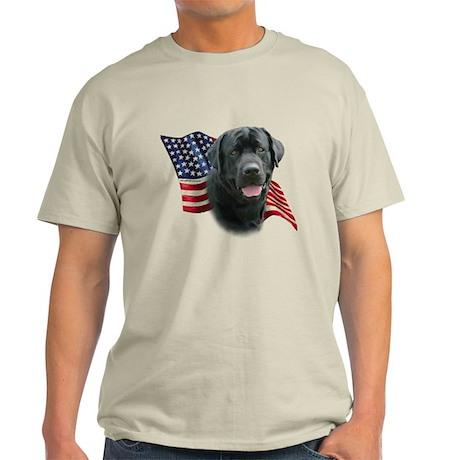 Black Lab Flag Light T-Shirt