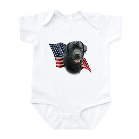 Black Lab Flag Infant Bodysuit
