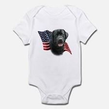 Black Lab Flag Infant Bodysuit