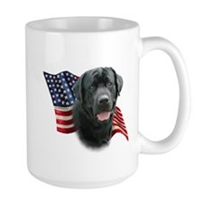 Black Lab Flag Mug