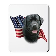 Black Lab Flag Mousepad