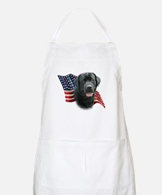 Black Lab Flag Apron