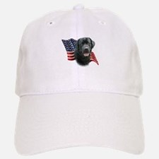 Black Lab Flag Baseball Baseball Cap