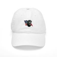 Black Lab Flag Baseball Cap