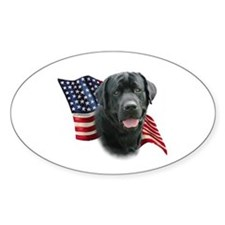 Black Lab Flag Decal