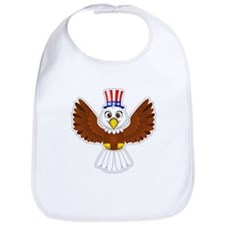 Cute Eagle Boy Bib