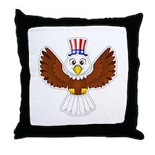 Cute Eagle Boy Throw Pillow