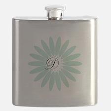 Cute Mint Monogram Flask