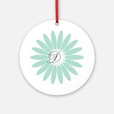 Cute Mint Monogram Round Ornament