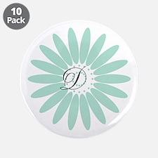 "Cute Mint Monogram 3.5"" Button (10 pack)"