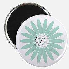 Cute Mint Monogram Magnet