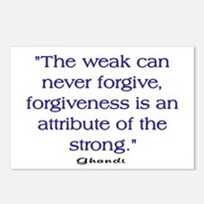 THE WEAK CONNOT FORGIVE Postcards (Package of 8)