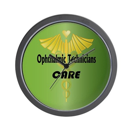 Ophthalmic Technicians Care Wall Clock