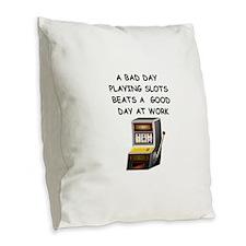 SLOT2 Burlap Throw Pillow