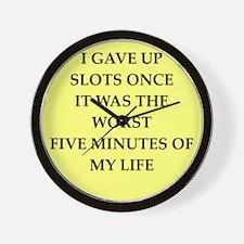 SLOTS Wall Clock