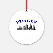 Philly Skyline Ornament (Round)