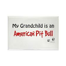 Pit Bull Grandchild Rectangle Magnet