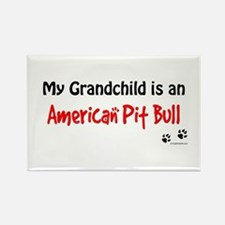 Pit Bull Grandchild Rectangle Magnet