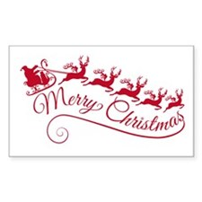Santa Claus with his sleigh Decal