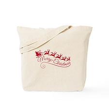 Santa Claus with his sleigh Tote Bag