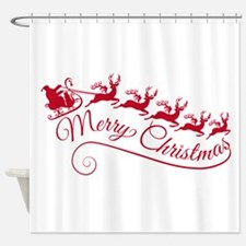 Santa Claus with his sleigh Shower Curtain