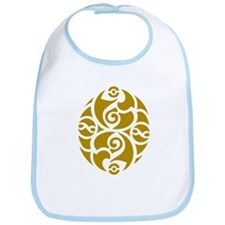 Celtic Oval Gold Design Bib