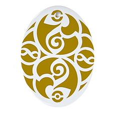 Celtic Oval Gold Design Oval Ornament