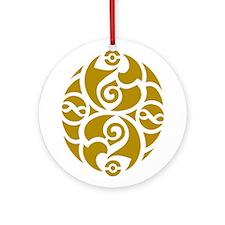 Celtic Oval Gold Design Ornament (Round)