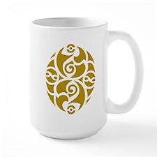 Celtic Oval Gold Design Mug