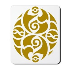 Celtic Oval Gold Design Mousepad