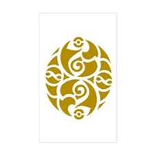 Celtic Oval Gold Design Rectangle Decal