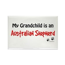 Aus Shepherd Grandchild Rectangle Magnet