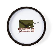 Hershey, Pennsylvania . . . C Wall Clock