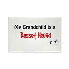 Basset Grandchild Rectangle Magnet