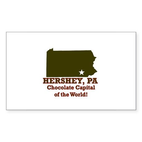 Hershey, Pennsylvania . . . C Sticker (Rectangular