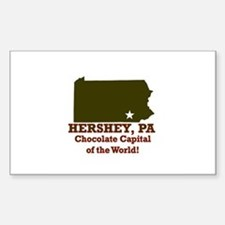 Hershey, Pennsylvania . . . C Sticker (Rectangular
