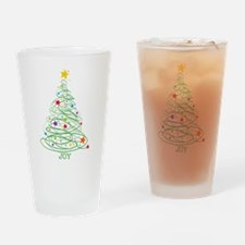 Swirly Christmas Tree Drinking Glass