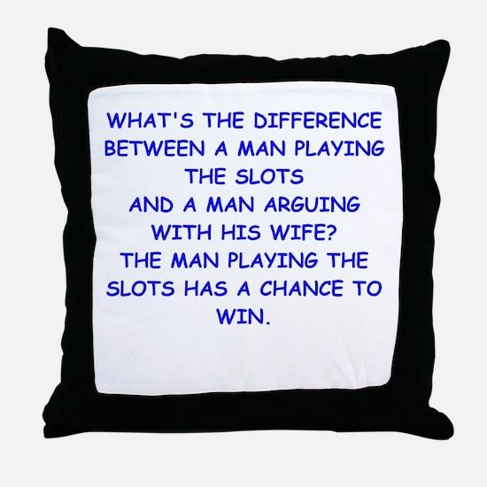 SLOTS2 Throw Pillow