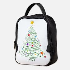 Swirly Christmas Tree Neoprene Lunch Bag