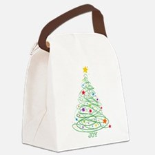 Swirly Christmas Tree Canvas Lunch Bag