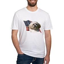 Lhasa Apso Flag Shirt