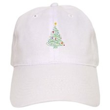 Swirly Christmas Tree Baseball Cap