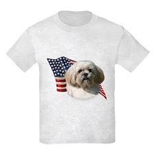 Lhasa Apso Flag T-Shirt