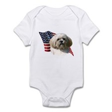 Lhasa Apso Flag Infant Bodysuit