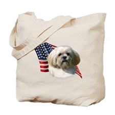 Lhasa Apso Flag Tote Bag