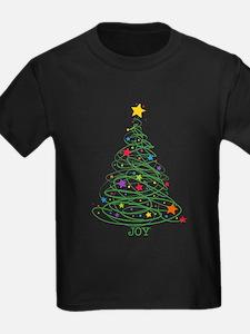 Swirly Christmas Tree T