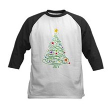 Swirly Christmas Tree Tee
