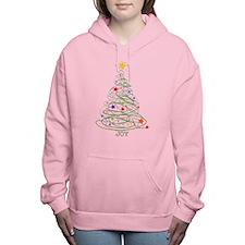 Swirly Christmas Tree Women's Hooded Sweatshirt