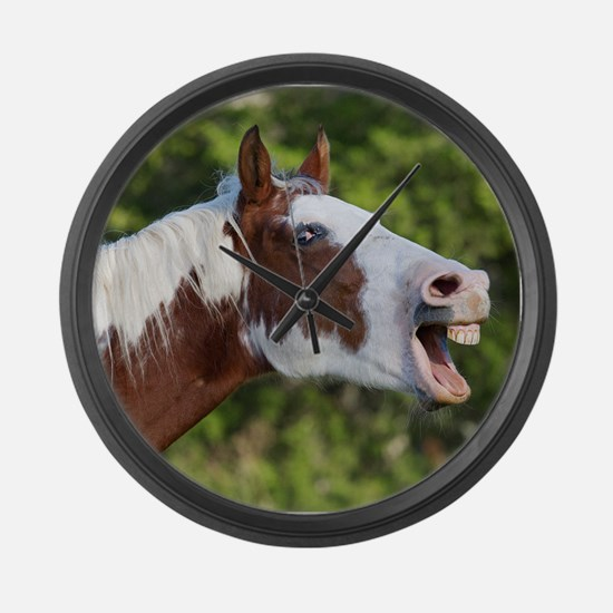 Funny Horse Face Large Wall Clock